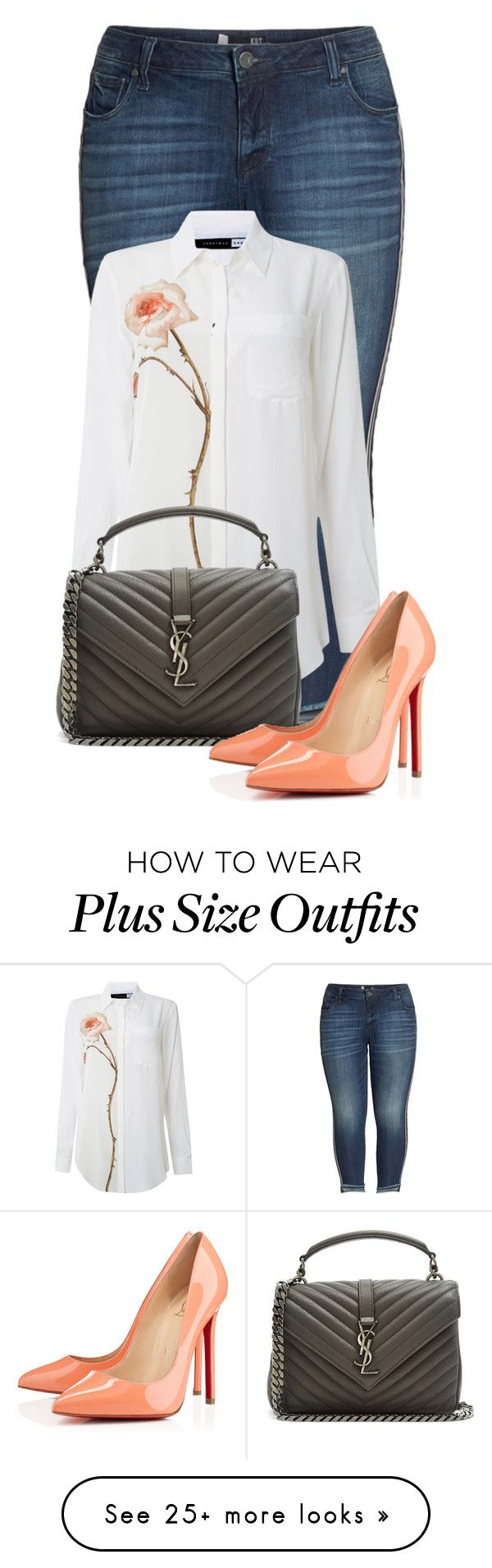 """Untitled #24732"" by nanette-253 on Polyvore featuring KUT from the Kloth, Sportmax, Yves Saint Laurent and Christian Louboutin"