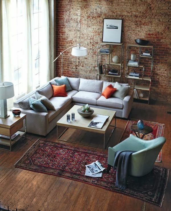 brick wall living space