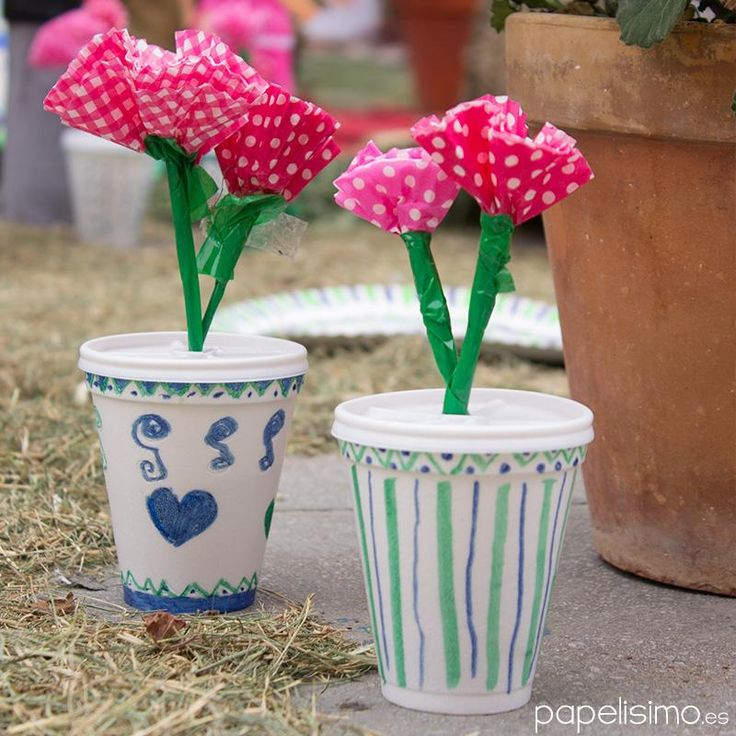 31 best images about reciclados on pinterest reuse - Manualidades con vasos ...