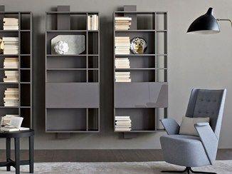 Librería de pared lacada suspendida CONTATTO | Librería - ESTEL GROUP