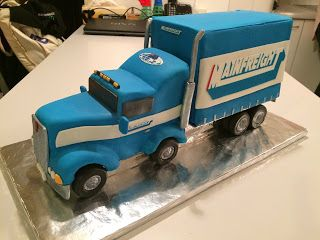 Kiwi Cakes: Mainfreight Truck cake made by Kiwicaker Suzanne. Using our custom edible image service