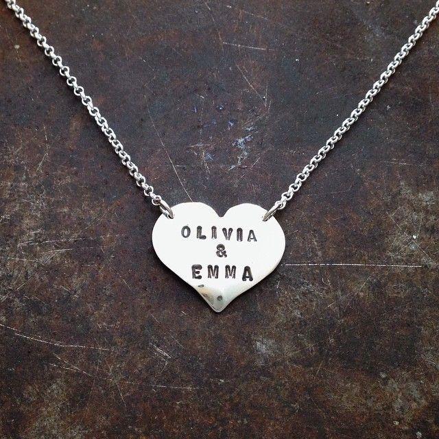 Mammasmykke - håndlaget hjertesmykke i sølv