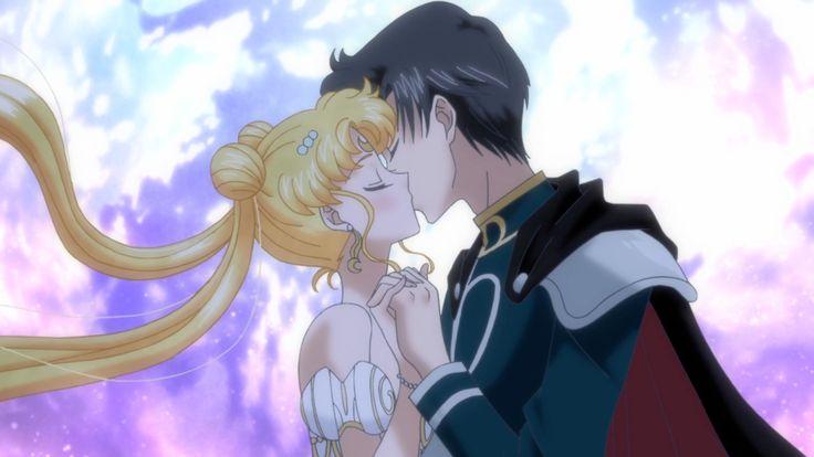 Images For > Sailor Moon Crystal Usagi And Mamoru Kiss