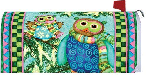 Winter Owls 1712MM Magnetic Mailbox Cover Wrap ** Click image to review more details.