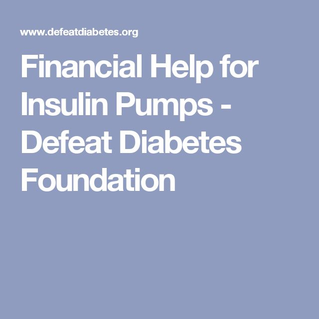 Financial Help for Insulin Pumps - Defeat Diabetes Foundation