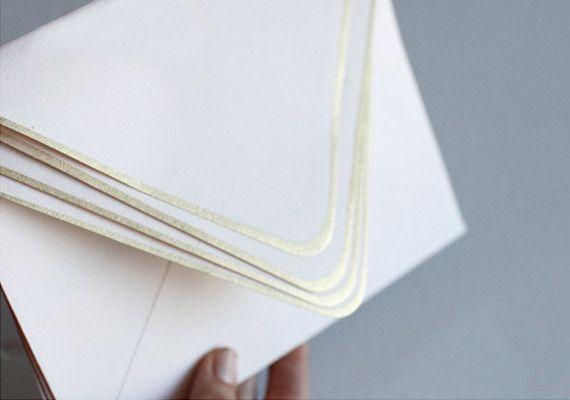 DIY - Gold Edged Envelopes using Metallic Spray Paint - Tutorial