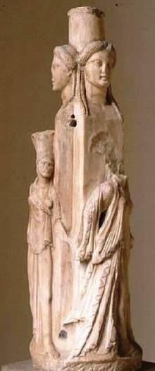 Hecate marble - 3th century BC, from Attica,  now museum Archeologico Venezia