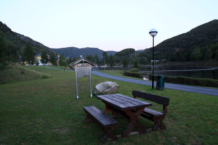 """Lucky Ambassade"" picnic table. Photo By. Knut Erik Blom"