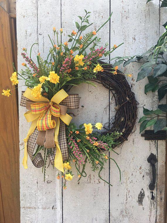 Summer Wreaths For Front Door All Year Wreath Summer Door Wreath