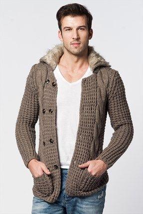 Stil Sahibi Erkekler - Vizon Hırka WPOKHR5007002 %64 indirimle 49,99TL ile Trendyol da