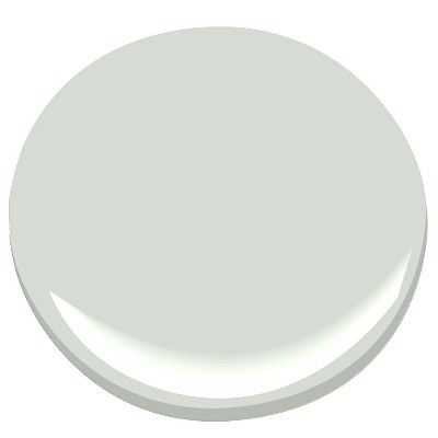 Benjamin Moore Healing Aloe. A light green/gray with a hint of blue. A transitional color that is very versatile and calm.