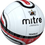 The official match ball of Exeter City.