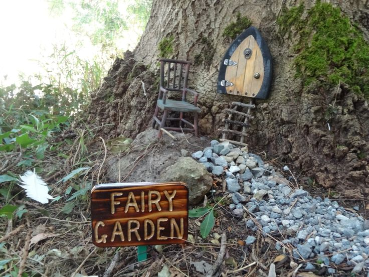 This is the garden I am starting to create for the fairies.  The door arrived from Canada yesterday and I love it!  I made the ladder.
