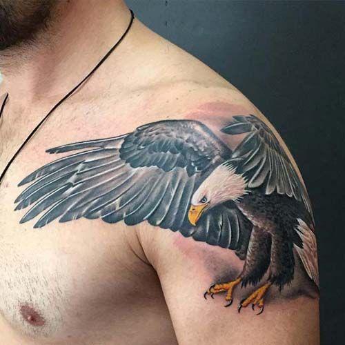 erkek omuz kartal dövmesi man shoulder eagle tattoo 2