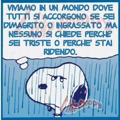 "Come dice Charlie Brown :""In giro c'è un analfabetismo dell'anima che nessuno può curare"" ......................................""There is around an illiteracy of the soul that nobody can take care of"""