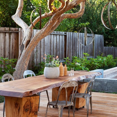 Rustic Outdoor Furniture Decorating Space Pinterest