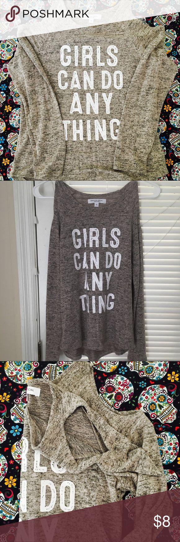 Girls' XL(16) Cold Shoulder Long Sleeve Sweater Softest fabric ever!!! NWOT never worn size XL girls art class Shirts & Tops Sweaters