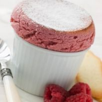 Strawberry Souffle: A fluffy and airy strawberry #souffle recipe to end your meal. It is truly delicious.
