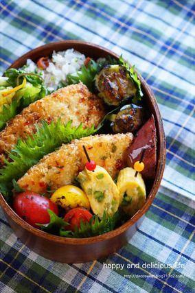 本日のおべんとう☆マヒマヒ!シイラフライと茄子の青南蛮味噌田楽|レシピブログ