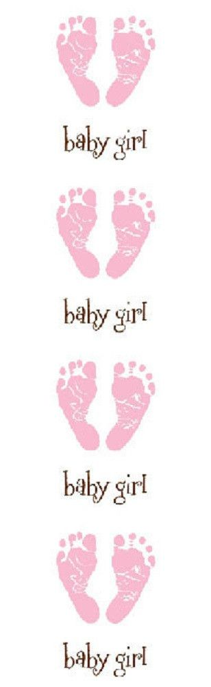 Mrs Grossman's Stickers - Pink Baby Footprints