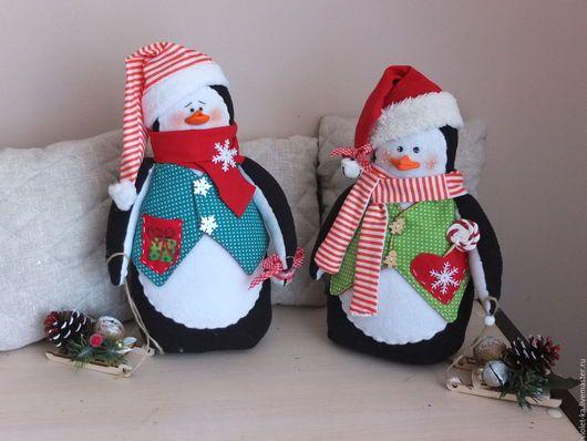 Новый год 2017 ручной работы. Ярмарка Мастеров - ручная работа. Купить Пингвинята. Handmade. Комбинированный, пингвиненок