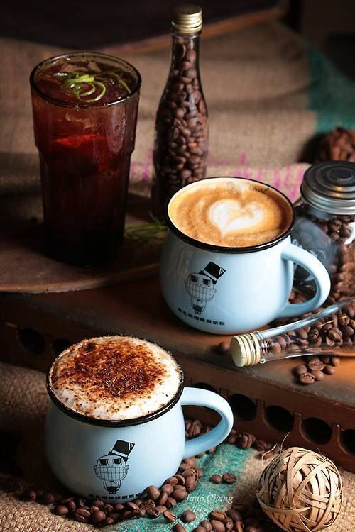 Having lots of items in the shot helps to create an atmosphere, without distracting from the main focus; the coffee #Coffeeideas #Coffeetime