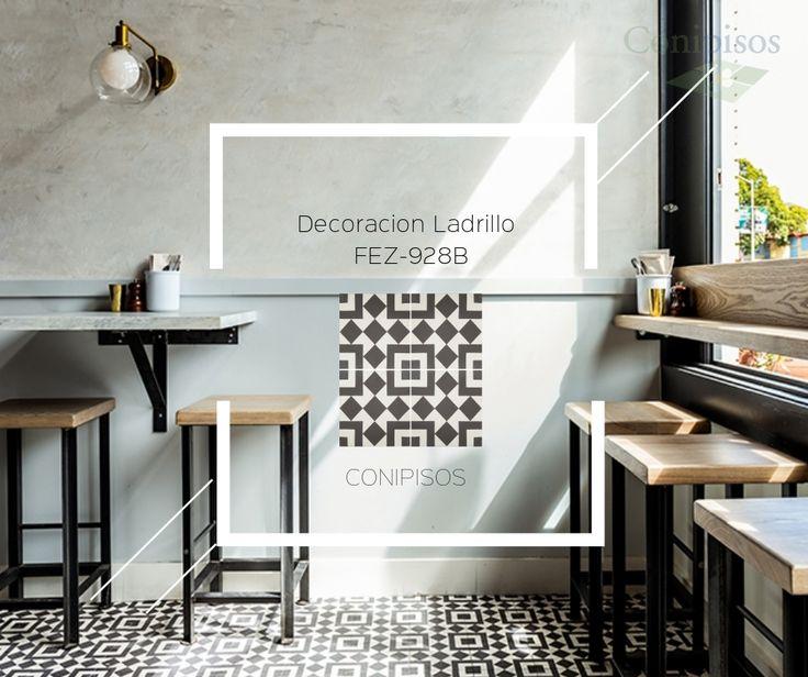 #Decoración de #interiores con #ladrillos y #mosaicos #Fez-928B de #conipisos #Proyecto #Barzotto #Restaurante.