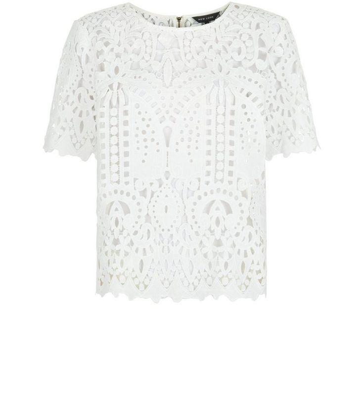 White Lace Short Sleeve T-Shirt | New Look ------------- 34.99€