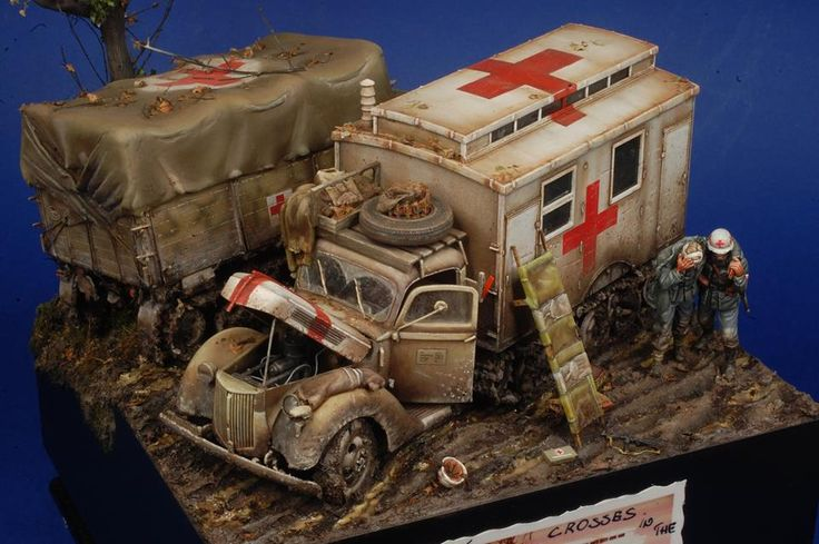 """Crosses in the Mud"" Diorama in 1/35 by modeler Alberto Bertoni. Master Miniatures"