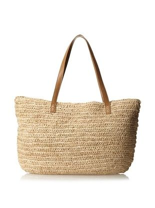 39% OFF Straw Studios Women's Straw Tote, Brown