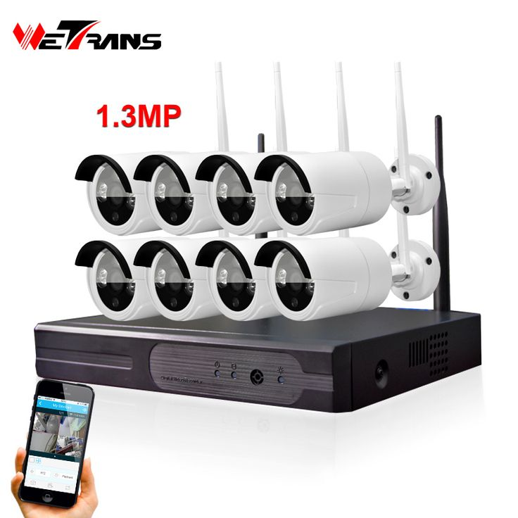 Wireless Home CCTV System Plug Play P2P 8CH 1.3MP HD 960P 20m Night Vision Wireless Outdoor Security Camera System with DVR