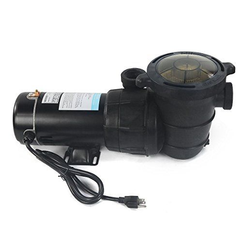 """New New 1 HP Pump Above Ground swimming Pool filter 1.5"""" port hi flo 115v motor  Can only be used with sand filters or cartridge  Clear cover lets you see when basket needs cleaning.  Drain plug for easy maintenance of pump"""