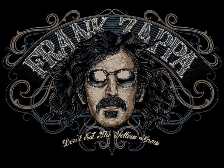 «FRANK ZAPPA» Vector illustration. Artwork series of Kings of rock. Illustration of the print for t-shirts. Not a commercial project. The work is done in programs Adobe Illustrator.