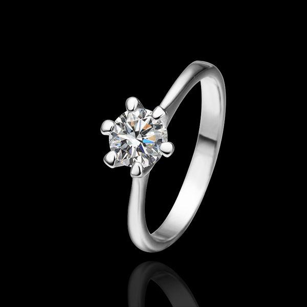 Кольца для женщины свадьба кольцо большой кристалл ювелирные изделия помолвка кольца о обручальные кольца платиновое покрытие квадрат в кольцо