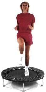 I can exercise again thanks to rebounding!  It is great exercise for those of us with painful knees.
