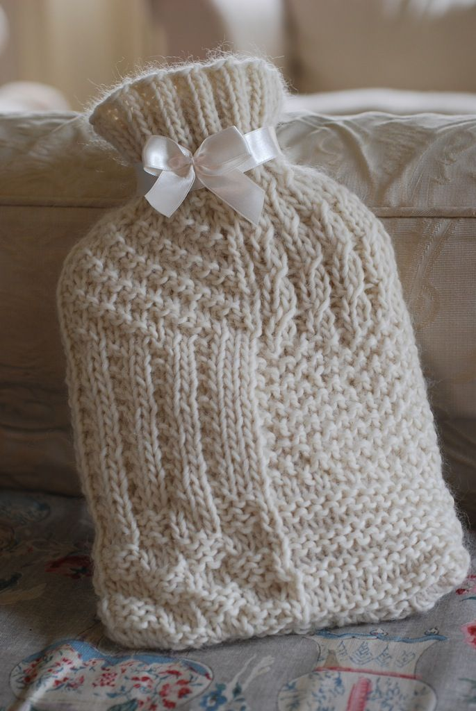 Hot water bottle cover Libby Summers