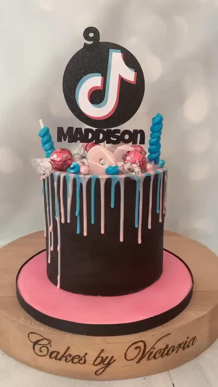 Tik Tok Drip Cake Video Cake Birthday Cake Cake Designs