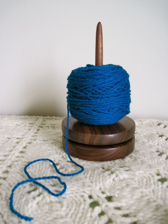 Knitting Wool Holder Hobbycraft : Yarn holder walnut lazy susan for knitting and crochet