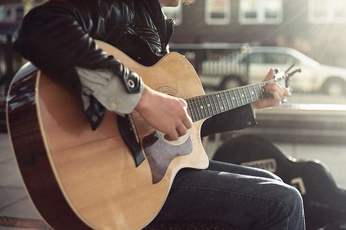 guitar, boy, and photography image