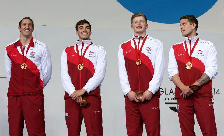 Chris WALKER-HEBBORN, Adam PEATY, Adam BARRETT, Adam BROWN [Gold], [Men's 4x100m medley relay] - England