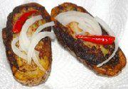 Deep Fried Stuffed Jacket Potatoes