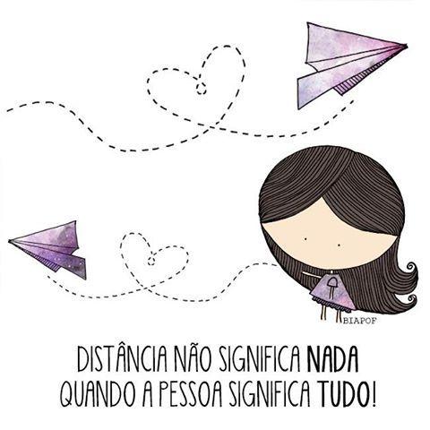 A distância é incapaz de separar sentimentos.!...