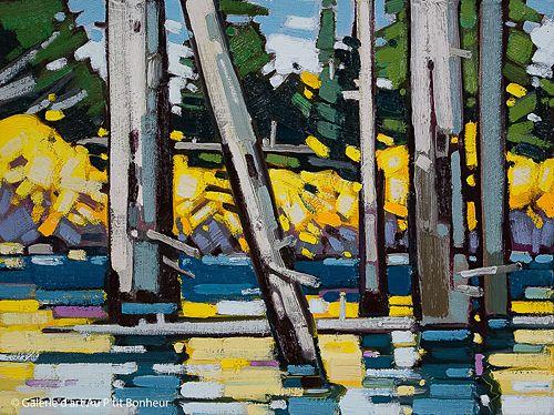 Cameron Bird, 'Fall Reflections', 12'' x 16''   Galerie d'art - Au P'tit Bonheur - Art Gallery