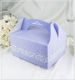 Výslužky, dortové krabice > Svatební krabička na výslužky Elza -