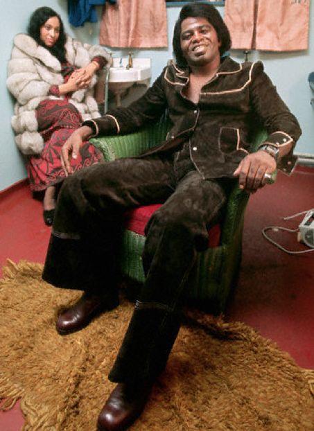 James Brown and his retro pimp do