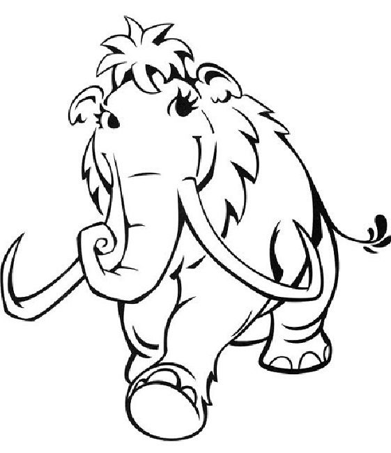 Ice Age Ellie Coloring Pages