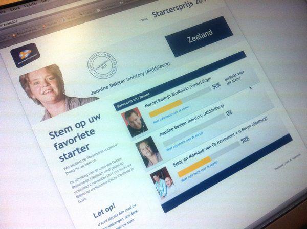 Kamer van Koophandel Website Startersprijs 2011