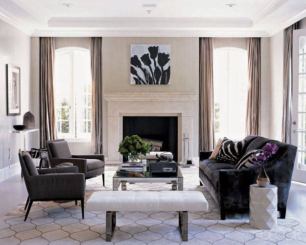 Monique Lhuillier Gray Home Decor Photos - Gray Interior Design Pictures - ELLE DECOR