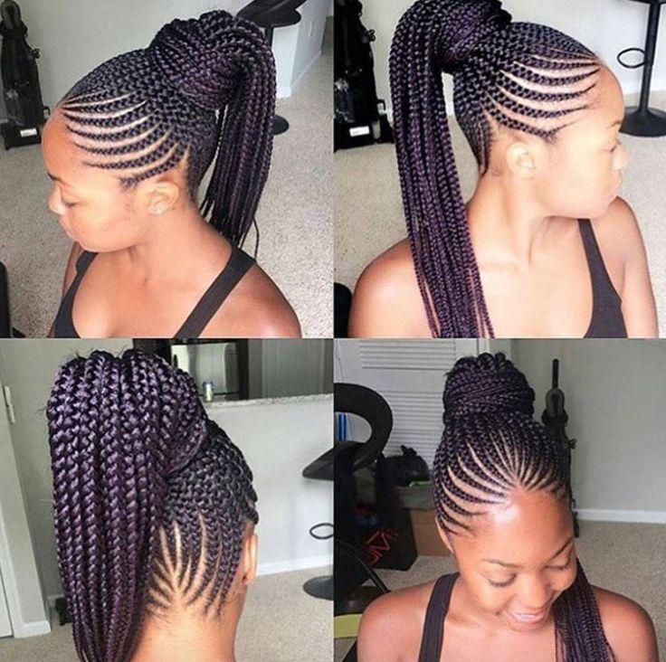 Nice braid work via @narahairbraiding  Read the article here - http://blackhairinformation.com/hairstyle-gallery/nice-braid-work-via-narahairbraiding/