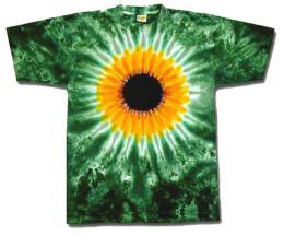 A cool sunflower tie dye design t shirt